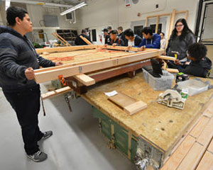 Antioch High wood shop students put theory into practice with guard shack