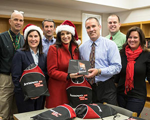 Lenovo plays Santa, surprises Apex teachers
