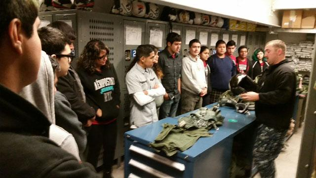 Orosi High School's Academy of Engineering students visits Naval Air Station