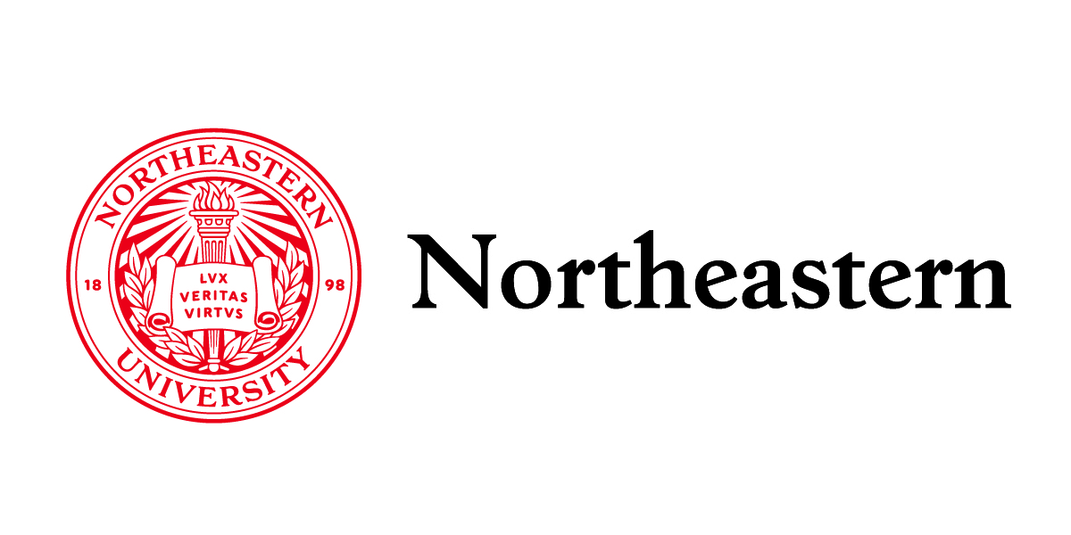 Northeastern University logo.