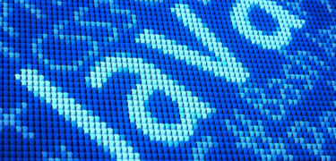 A blue image with computer science terminology surround the word Java