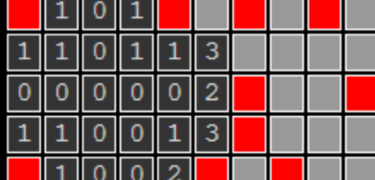 A board of Minesweeper.