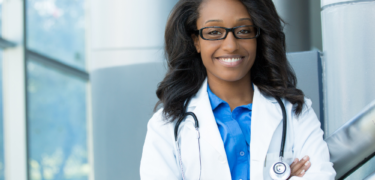 A female doctor.