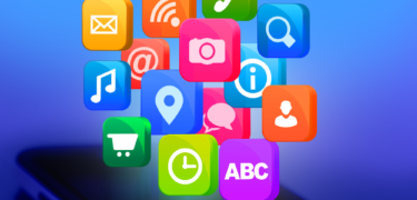 A mix of different app icons.