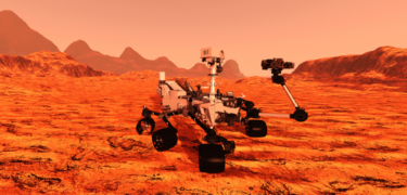 A Mars rover on Mars.