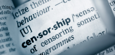 The word censorship in a dictionary.