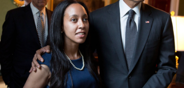 Haben Girma with Joe Biden and President Barack Obama.