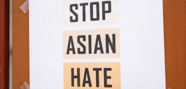 "Sign says, ""Stop Asian Hate"""
