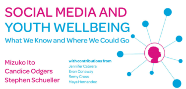 """""""Social Media & Youth Wellbeing"""" poster."""